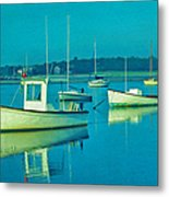 Anchored In Maine Metal Print