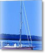Anchored In The Bay Metal Print