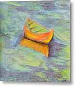 Anchored In The Shallows Metal Print