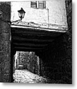 Ancient Alley In Tui Bw Metal Print