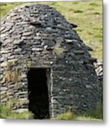 Ancient Beehive Hut Metal Print