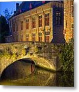 Ancient Bridge In Bruges  Metal Print