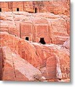 Ancient Buildings In Petra Metal Print