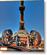 Ancient Cannon From Ww2 Metal Print