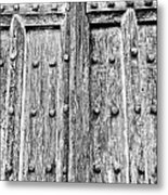 Ancient Church Door Metal Print