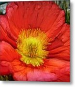 Ancient Flower 4 - Poppy Metal Print