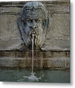 Ancient Fountain Metal Print