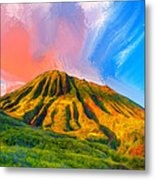 Ancient Hawaii Lava Flow Metal Print