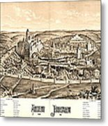 Ancient Jerusalem Map 65ad Metal Print
