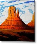 Ancient Land Monument Valley Metal Print