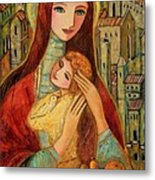 Ancient Mother And Son Metal Print