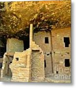 Ancient Pueblo Dwelling Ruins Metal Print