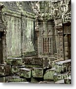 Ancient Ruins Cambodia Metal Print