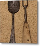 Ancient Spoon And Fork  Metal Print