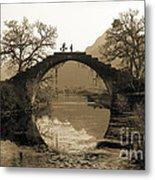 Ancient Stone Bridge Metal Print