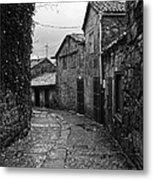 Ancient Street In Tui Bw Metal Print