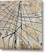 Ancient Sundial Metal Print