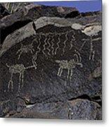 Ancient Symbols Metal Print