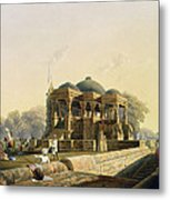 Ancient Temple At Hulwud, From Volume I Metal Print