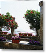 Ancient Town Of Ravello Italy Metal Print