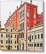 Ancient Venetian Houses Metal Print