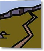 And The Path Rises Steeply To The Crag Metal Print by Kenneth North