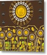 And The Sun Started To Shine Pop Art Metal Print
