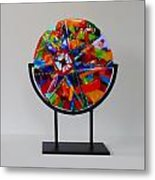 And The Wheel Goes Round And Round Metal Print by Mark Lubich