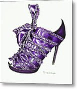 ...and Toes To Match - Purple Metal Print