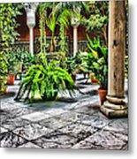Andalusian Courtyard In Sevilla Spain Metal Print