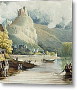Andely, From Views On The Seine Metal Print
