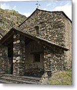 Andorra. Canillo. Church Of Sant Joan Metal Print