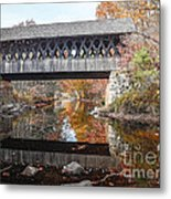 Andover Covered Bridge Metal Print
