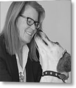 Andrew And Andree Bw Metal Print