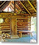 Andrew Berg's Homestead Cabin At Kenai National Wildlife Refuge In Soldotna-alaska Metal Print
