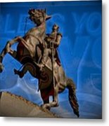 Andrew Jackson And New Orleans Saints Metal Print