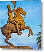 Andrew Jackson - Paint Metal Print