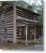 Andrew Logan Log Cabin Ninety Six National Historic Site Metal Print