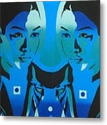 Android Twins Metal Print
