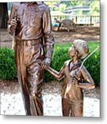 Andy And Opie Statue Nc Metal Print