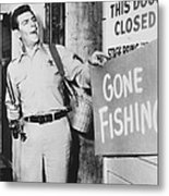 Andy Griffith In The Andy Griffith Show Metal Print