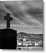 Angel And Cross Metal Print