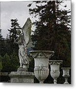Angel And Garden Urns Metal Print