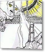 Angel Art - The Helping Hand Metal Print