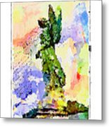Angel Colors Metal Print