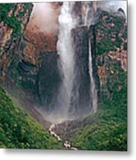 Angel Falls In Venezuela Metal Print