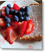 Angel Food And The Berries Metal Print