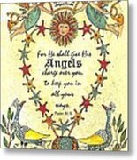 Angel Fraktur Painting Metal Print