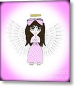 Angel In Pink Metal Print