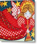 Angel In Red Metal Print